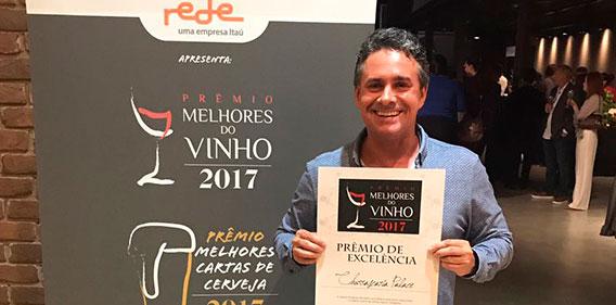 Prêmio de Melhores do Vinho 2017 – Revista Prazeres da Mesa